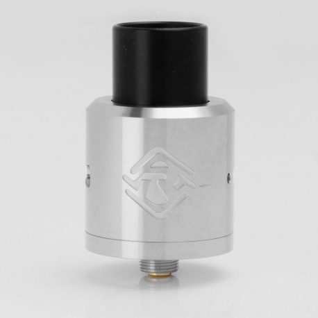 ShenRay SR One Style RDA Rebuildable Dripping Atomizer w/ Bottom Feeder Pin - Silver, 316 Stainless Steel, 25mm Diameter