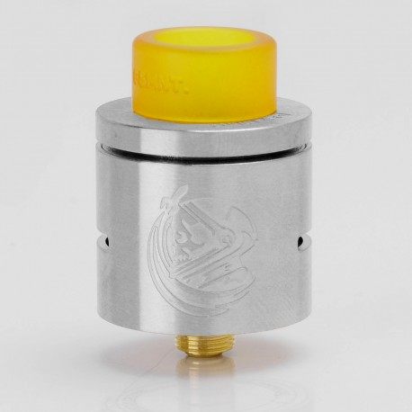 CSMNT Cosmonaut Style RDA Rebuildable Dripping Atomizer - Silver, Stainless Steel, 24mm Diameter