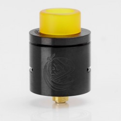 CSMNT Cosmonaut Style RDA Rebuildable Dripping Atomizer - Black, Stainless Steel, 24mm Diameter