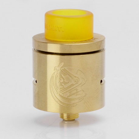 CSMNT Cosmonaut Style RDA Rebuildable Dripping Atomizer - Golden, Stainless Steel, 24mm Diameter