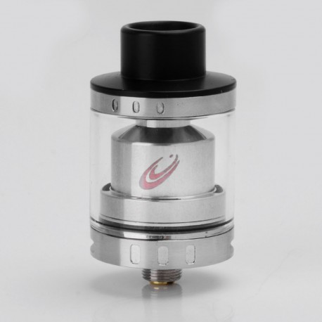 Authentic VapJoy Jellyfish RTA Rebuildable Tank Atomizer - Silver, Stainless Steel + Glass, 2ml, 24mm Diameter
