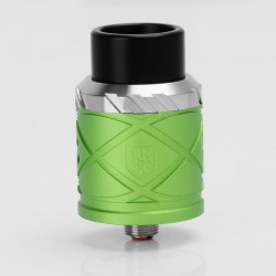 RH X Style RDA Rebuildable Dripping Atomizer - Green, Stainless Steel + Aluminum, 24mm Diameter