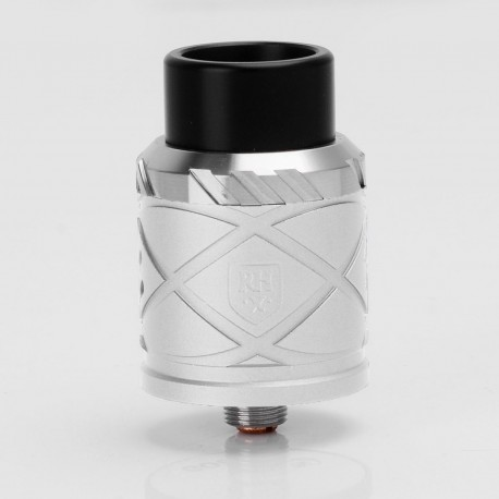 RH X Style RDA Rebuildable Dripping Atomizer - Silver, Stainless Steel + Aluminum, 24mm Diameter
