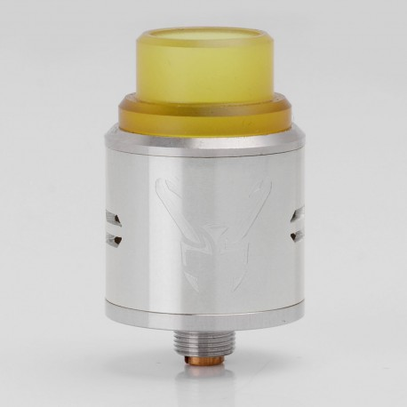 Loki Style RDA Rebuildable Dripping Atomizer - Silver, Stainless Steel, 22mm Diameter