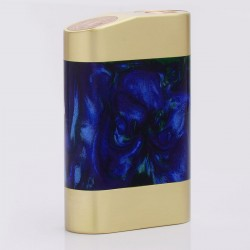 Rig Pig Series Style Mechanical Box Mod - Random Color, Brass + Resin, 2 x 18650