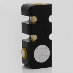 Pilak Alas Style Mechanical Box Mod - Black, POM + Brass, 1 x 18650