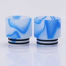 Replacement Drip Tip for SMOK TFV8 / TFV8 Big Baby Tank - White + Blue, Acrylic, 16.1mm