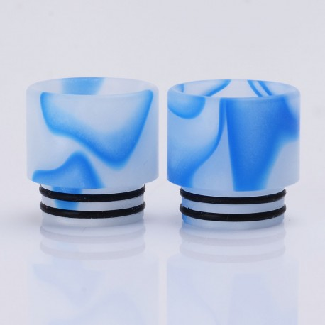 Replacement Drip Tip for SMOK TFV12 / TFV8 / TFV8 Big Baby Tank - White + Blue, Acrylic, 16.1mm