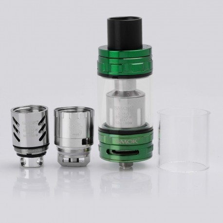 Authentic SMOKTech SMOK TFV8 CLOUD BEAST Sub Ohm Tank Atomizer - Green, Stainless Steel + Glass, 6ml, 24.5mm Diameter
