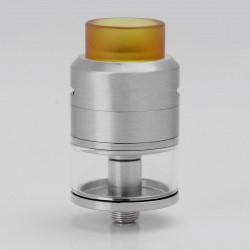 Goon LP Style RDTA Rebuildable Dripping Tank Atomizer - Silver, Stainless Steel + Glass, 3.0ml, 24mm Diameter