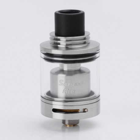 Authentic Wotofo Serpent Alto RTA Rebuildable Tank Atomizer - Silver, Stainless Steel + Glass, 2.5ml, 22mm Diameter