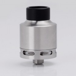 SXK In'Sane 22 Style RTA / RDA Rebuildable Tank / Dripping Atomizer - Silver, 316 Stainless Steel, 2ml, 22mm Diameter
