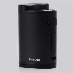 Authentic Eleaf Pico Dual 200W TC VW Variable Wattage Box Mod - Black, 1~200W, 100~315'C / 200~600'F, 2 x 18650