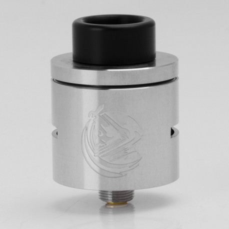 SJMY CSMNT Cosmonaut Style RDA Rebuildable Dripping Atomizer - Silver, 316 Stainless Steel, 24mm Diameter