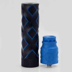 Comp Lyfe Tactical Style Mechanical Mod + Battle Style RDA Atomizer Kit - Black + Blue, Brass + Stainless Steel, 1 x 18650