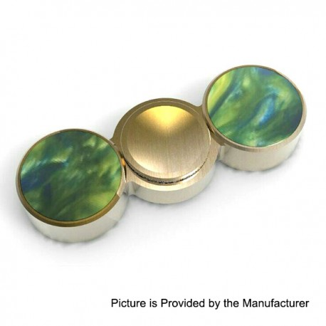 Hand Fidget Spinner Focus Toy EDC - Brass + Resin