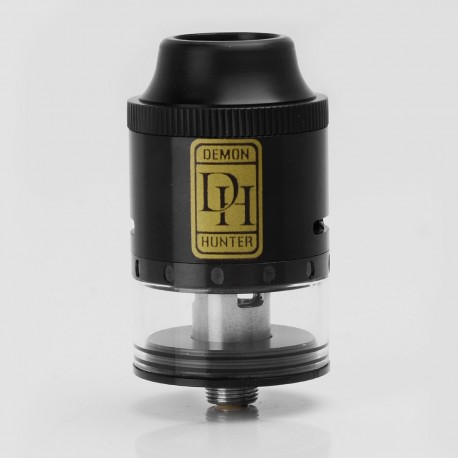 Authentic SMOKJOY Demon Hunter RDTA Rebuildable Dripping Tank Atomizer - Black, Stainless Steel + Glass, 2.8ml, 25mm Diameter