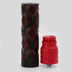 Comp Lyfe Tactical Style Mechanical Mod + Battle Style RDA Atomizer Kit - Black + Red, Brass + Stainless Steel, 1 x 18650