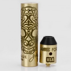 Storm Rogue USA Style Mechanical Mod + RDA Kit - Brass, Brass, 1 x 18650, Skull Pattern