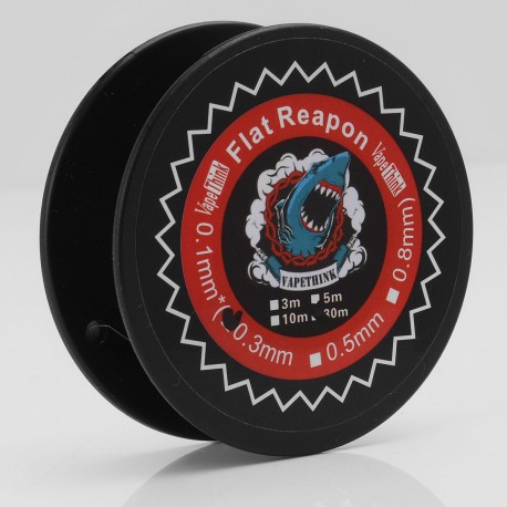 Authentic VapeThink Kanthal A1 Flat Reapon Resistance Wire for RBA / RDA / RTA - Silver, 0.1 x 0.3mm, 30m (100 Feet)