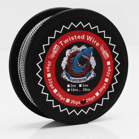 Authentic VapeThink Kanthal A1 26 AWG x 2 Twisted Heating Resistance Wire for RBA / RTA / RDA - 0.4mm x 2, 30m (100 Feet)