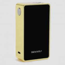 Authentic SnowWolf 200W Plus TC VW Variable Wattage Box Mod - Golden, 10~235W, 100~300'C / 212~662'F, 2 x 18650