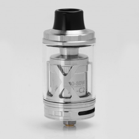 Authentic IJOY EXO XL Sub-ohm Tank Clearomizer - Silver, Stainless Steel + Glass, 5ml, 0.3 Ohm, 26mm Diameter