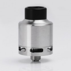 In'Sane 22 Style RTA / RDA Rebuildable Tank / Dripping Atomizer - Silver, 316 Stainless Steel, 2ml, 22mm Diameter