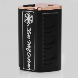 Silver Wolf SITH V2 Style Mechanical Box Mod - Black, Aluminum + Brass, 4 x 18650 (Parallel)