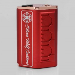 Silver Wolf SITH V2 Style Mechanical Box Mod - Red, Aluminum + Brass, 4 x 18650 (Parallel)