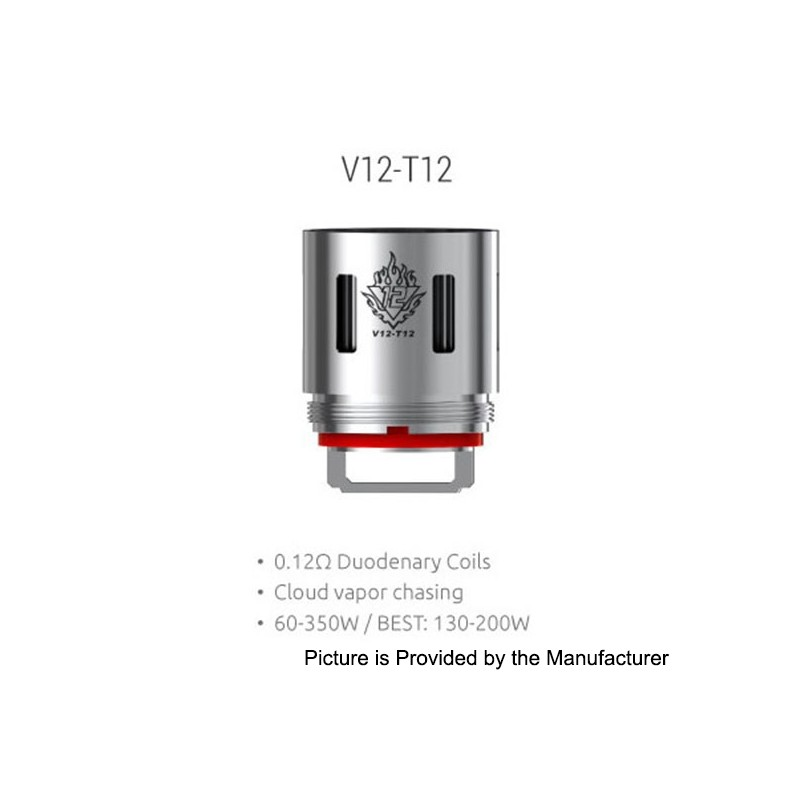 Authentic Smoktech Smok V12 T12 0 12 Ohm Coil Heads For
