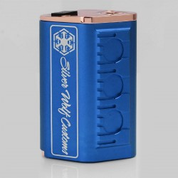 Silver Wolf SITH V2 Style Mechanical Box Mod - Blue, Aluminum + Brass, 4 x 18650 (Parallel)