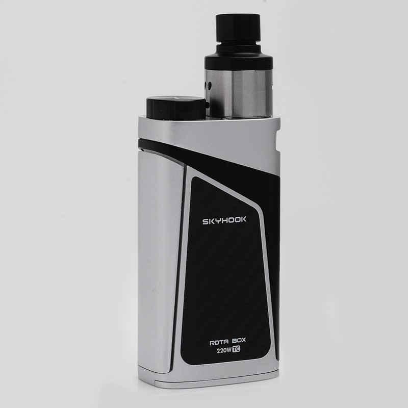 Authentic Smok Skyhook Rdta Box Starter Kit 220w Silver