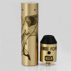 Storm Rogue USA Style Mechanical Mod + RDA Kit - Brass, Brass, 1 x 18650, Shark Pattern