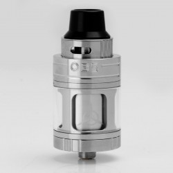 Authentic OBS Engine NANO RTA Rebuildable Tank Atomizer - Silver, Stainless Steel + Glass, 5.3ml, 25mm Diameter