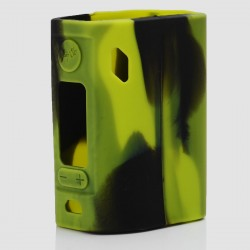 Authentic Vapesoon Protective Case Sleeve for Wismec Reuleaux RX300 Mod - Black + Green, Silicone