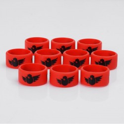 Authentic Vapethink Silicone Anti-slip Ring Vape Band - Red + Black, Chicken Pattern, 22mm Diameter (10 PCS)