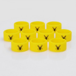 Authentic Vapethink Silicone Anti-slip Ring Vape Band - Yellow + Black, Chinese Dragon Pattern, 22mm Diameter (10 PCS)