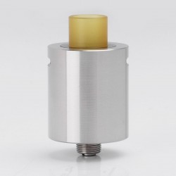 SXK KLS Style RDA Rebuildable Dripping Atomizer w/ Bottom Feeder Pin - Silver, 316 Stainless Steel + Ultem, 22mm Diameter