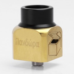 Pandora Style RDA Rebuildable Dripping Atomizer - Golden, Stainless Steel, 22mm