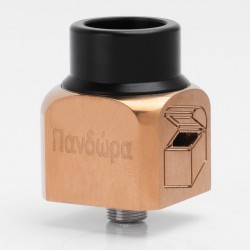 Pandora Style RDA Rebuildable Dripping Atomizer - Brown, Stainless Steel, 22mm