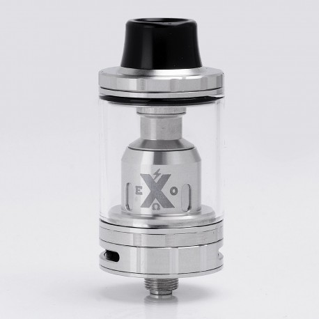 Authentic IJOY EXO X Sub-ohm Tank Clearomizer - Silver, Stainless Steel + Glass, 4.7ml, 24.5mm Diameter