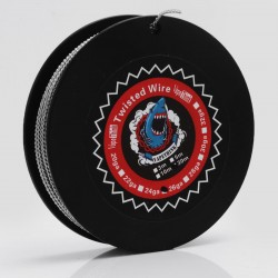 Authentic VapeThink Kanthal A1 24 AWG x 2 Twisted Heating Resistance Wire for RBA / RTA / RDA - 0.5mm x 2, 30m (100 Feet)