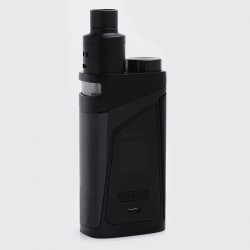 "Authentic SMOKTech SMOK Skyhook RDTA 220W 0.96"" TC VW Box Mod + RDTA Tank Kit - Black, 6~220W, 100~300'C / 200~600'F, 2 x 18650"