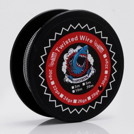 Authentic VapeThink Kanthal A1 28 AWG x 2 Twisted Heating Resistance Wire for RBA / RTA / RDA - 0.32mm x 2, 30m (100 Feet)