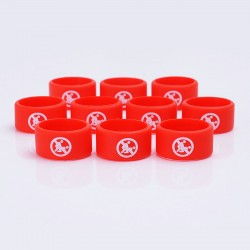 Authentic Vapethink Silicone Anti-slip Ring Vape Band - Red + White, No Sexual Pattern, 22mm Diameter (10 PCS)