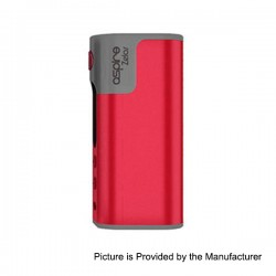 Authentic Aspire Zelos 50W 2500mAh TC VW Variable Wattage Mod - Red, 1~50W, 200~600'F / 100~315'C
