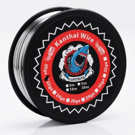 Authentic VapeThink Kanthal A1 20GA Heating Wire for RBA Atomizer - Silver, 0.8mm, 30m (100 Feet)