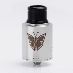 Monarch Style RDA Rebuildable Dripping Atomizer - Silver, Stainless Steel, 24mm Diameter