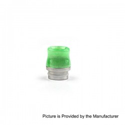 Replacement Drip Tip for SMOK TFV8 / Kennedy / Goon LP / Battle / Reload - Green, Resin + Stainless Steel, 17mm